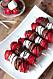 Grillade jordgubbsspett med chokladbrownie