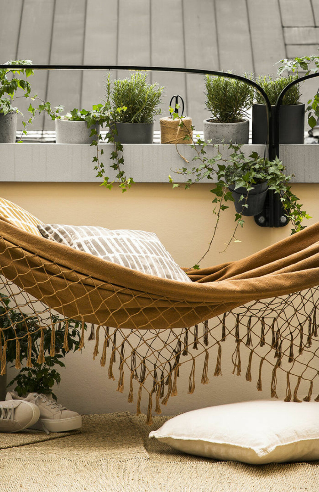 Hammock at the balcony.