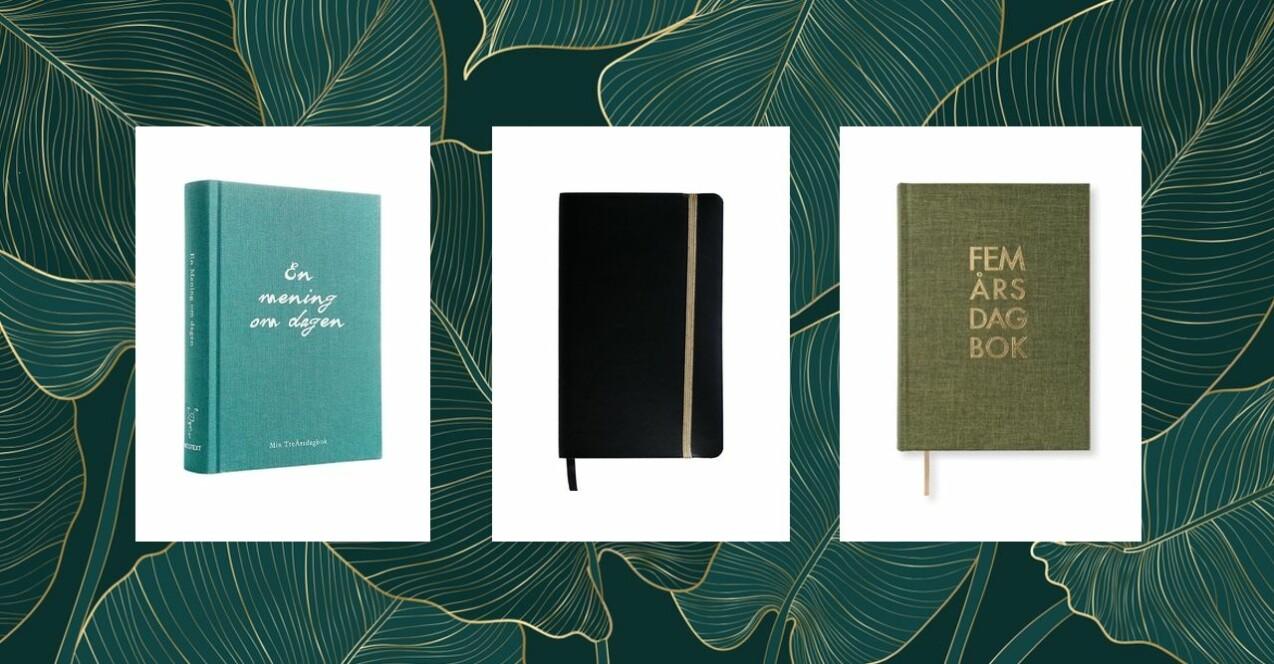 10 fina skriv- och dagböcker i butik