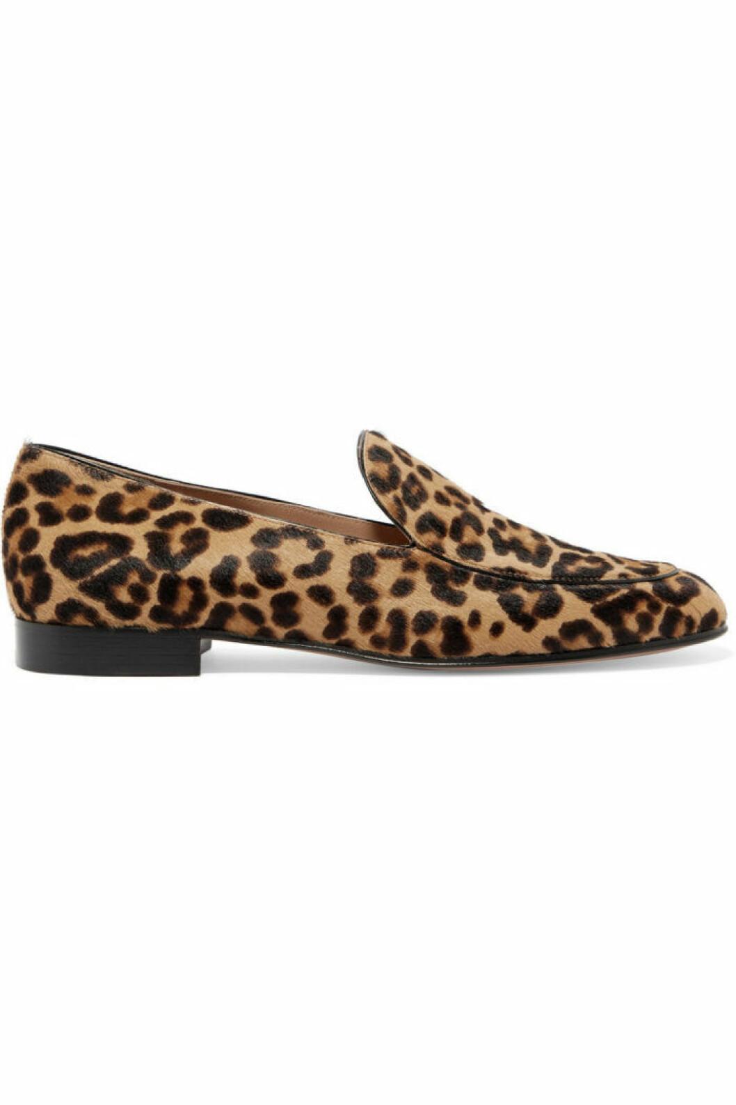 Leopardmönstrad loafer i klassisk modell