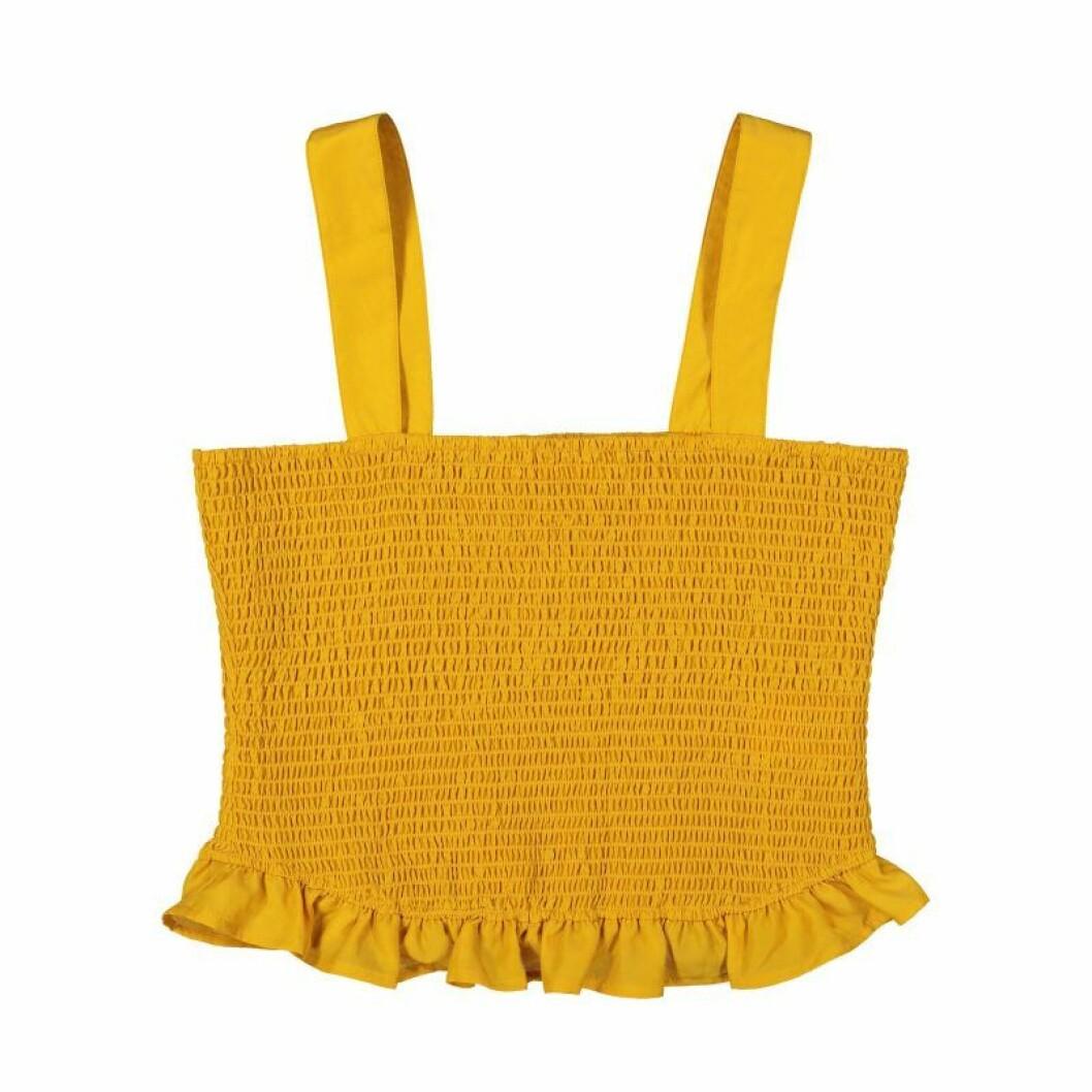 Gult linne med smock från Carin Wester till sommaren 2020