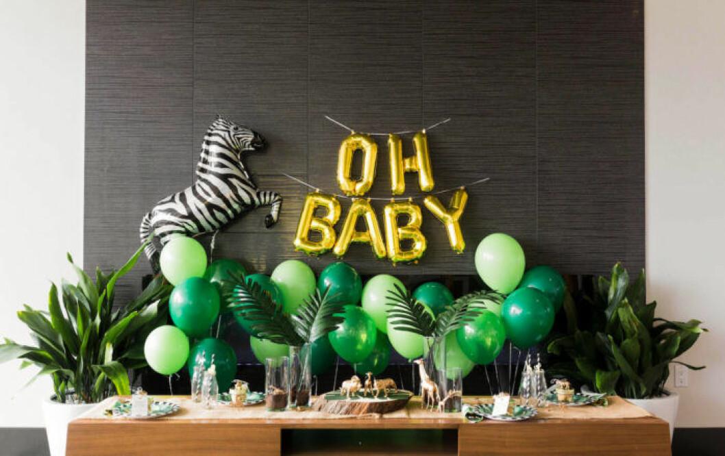 babyshower dukning