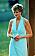Diana i en tuskos cocktailklänning och kort frisyr 1995.