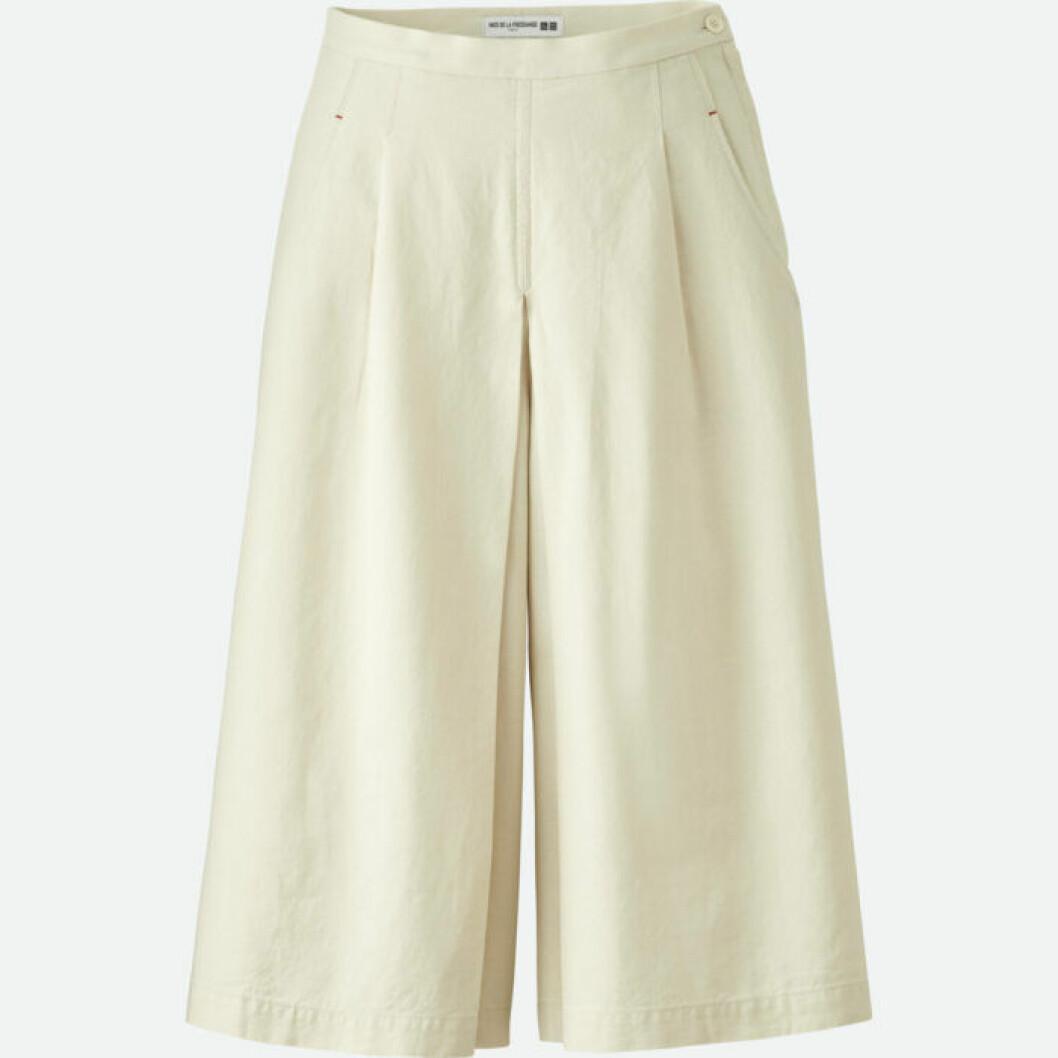 Vita culotte-byxor i linne och bomull från Uniqlo