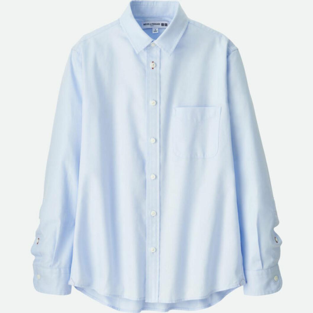 Ljusblå klassisk skjorta