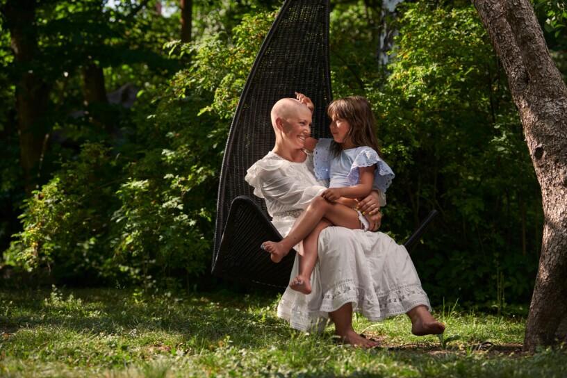 Hannah Ekwall med dottern Tinda
