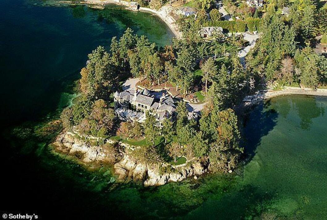 Meghan och Prins Harrys nya hem i Kanada ovanifrån.