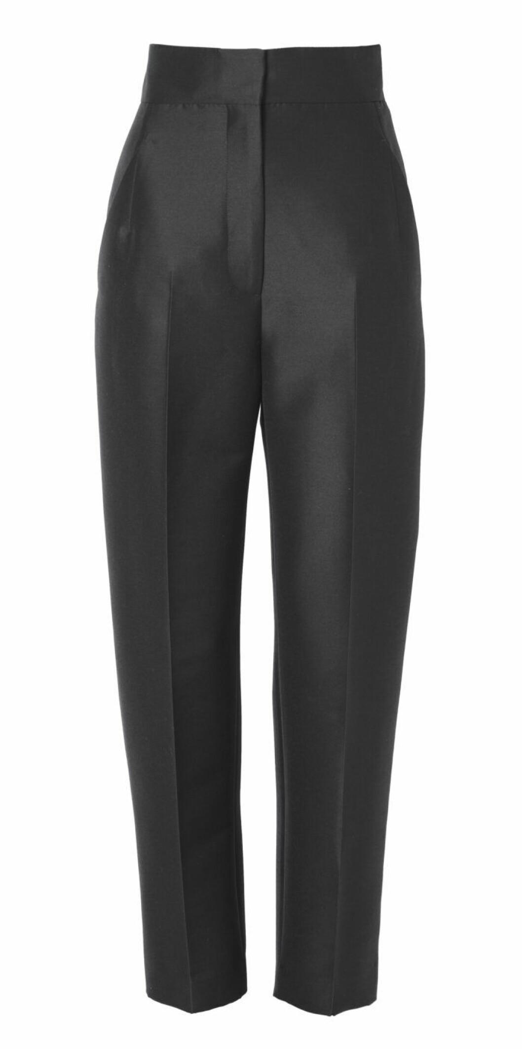 Svarta kostymbyxor med hög midja