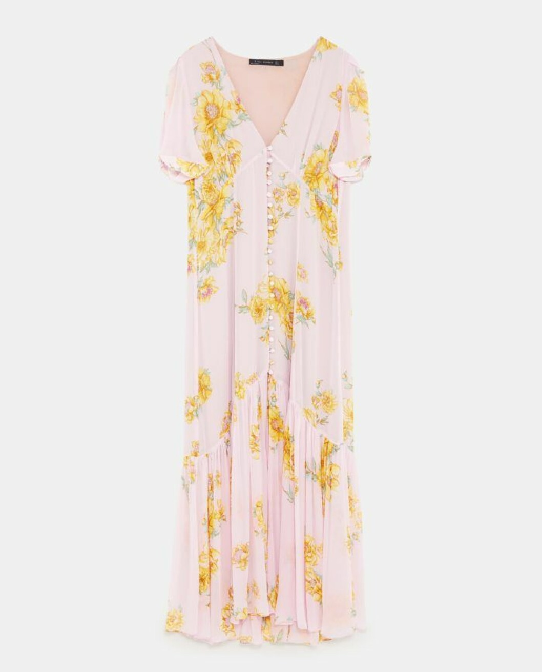 Rosa volangklänning från Zara