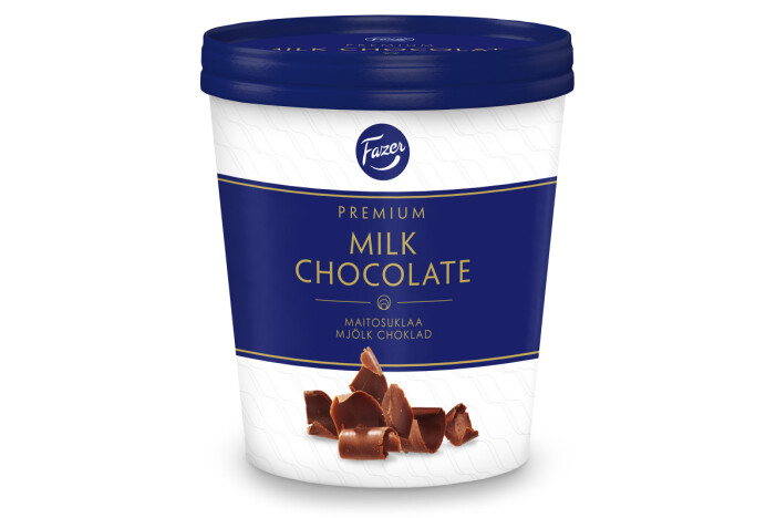 Glass med smak av Fazer mjölkchoklad