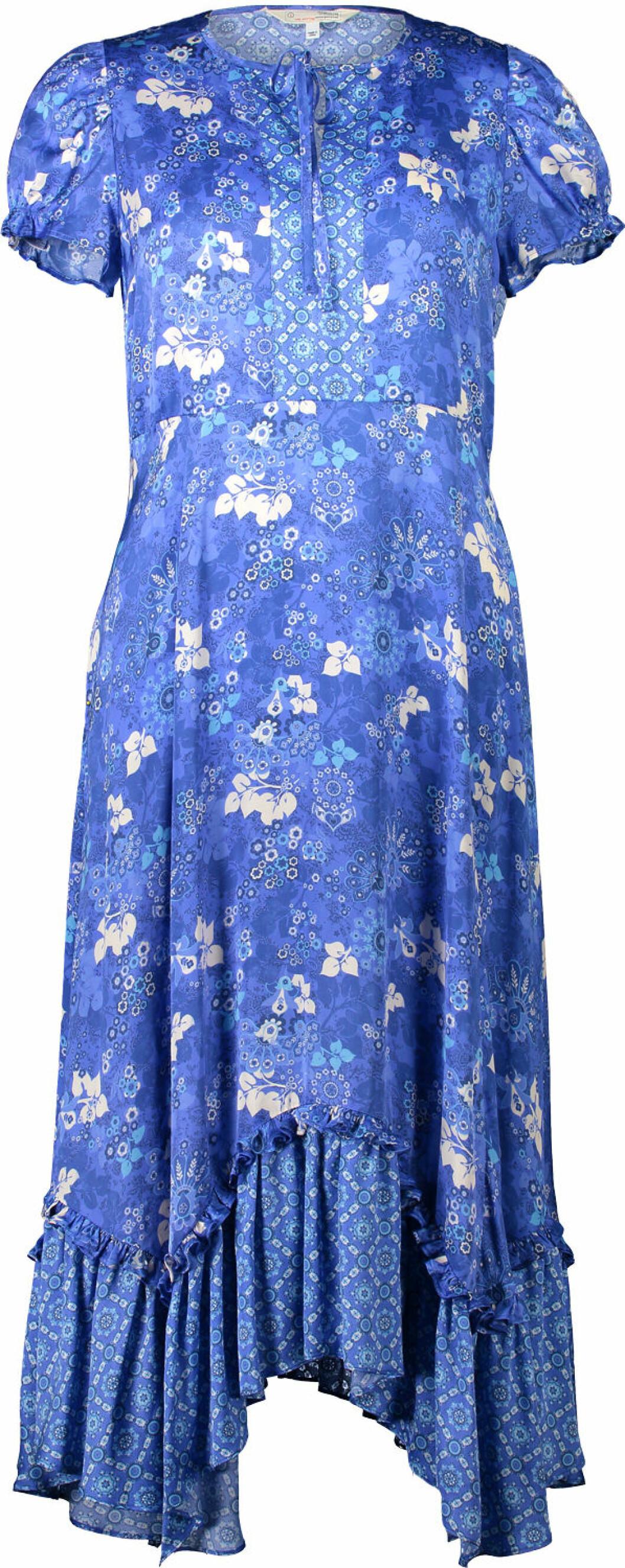 Blå maxiklänning