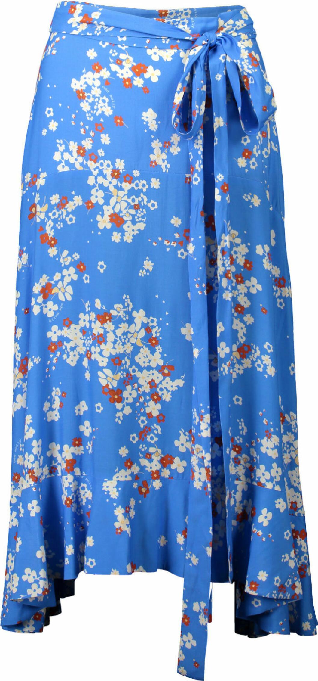 blå kjol