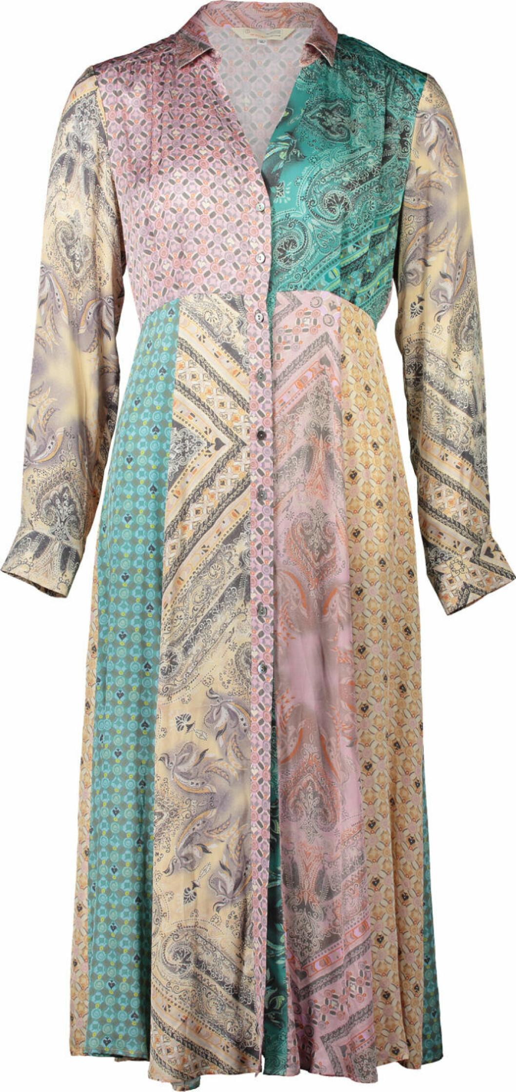 Skjortklänning i flera färger och mönster