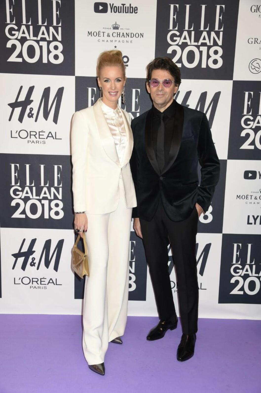 Jenny och Niklas Strömstedt, tillsammans på ELLE-galans röda matta 2018.