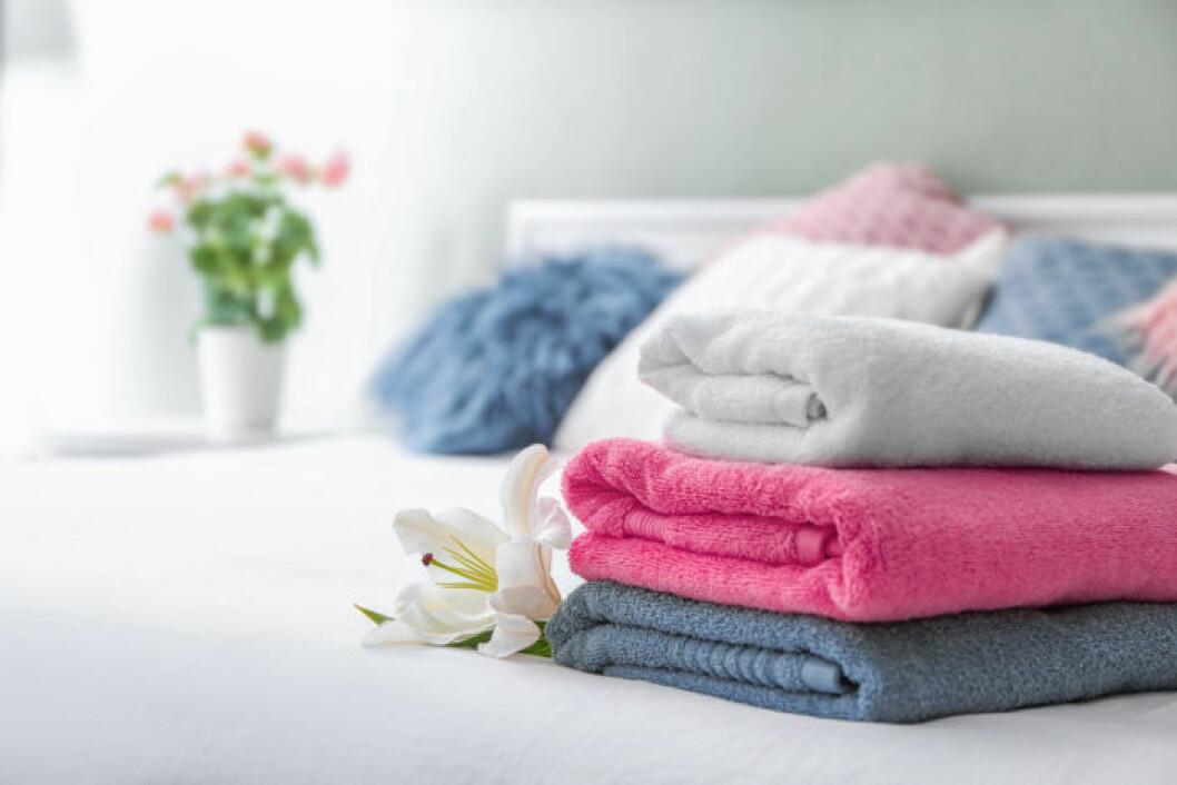 Färgglada handdukar