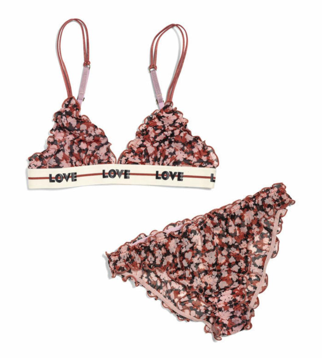 H&M x Love Stories blommigt underklädesset