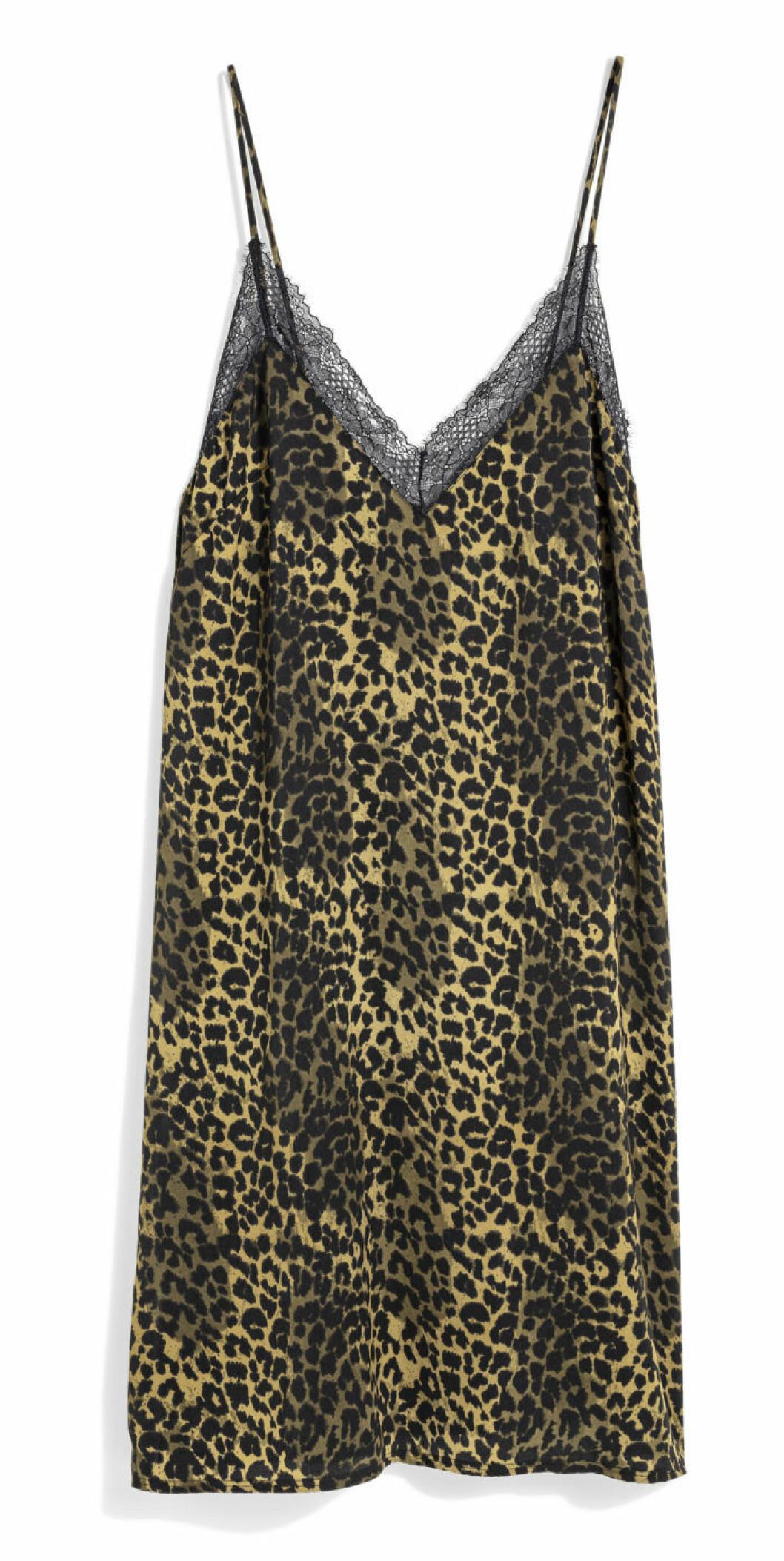 H&M x Love Stories leopardmönstrad slip-klänning