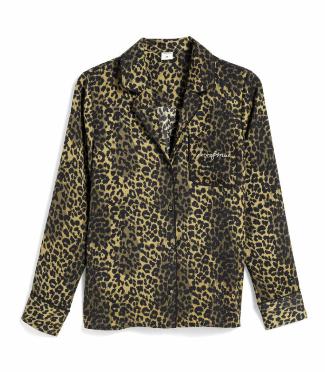 H&M x Love Stories pyjamasskjorta i leopardmönster