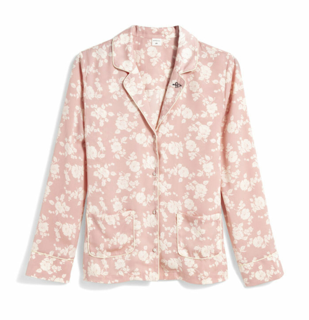 H&M x Love Stories rosa pyjamasskjorta