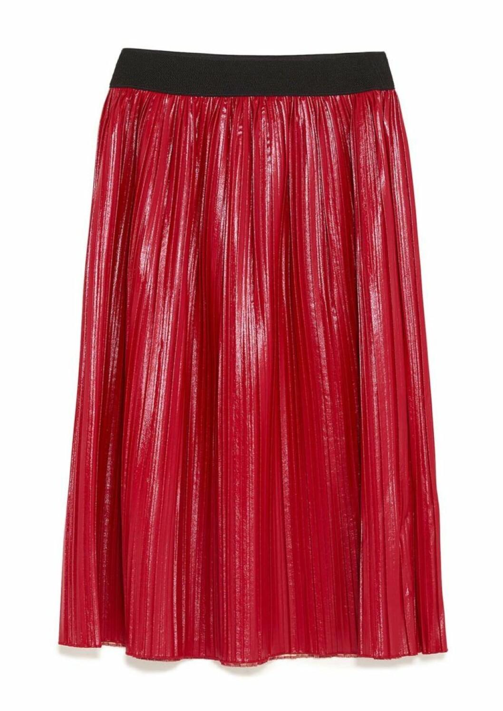 röd-kjol-ålisserad-zara