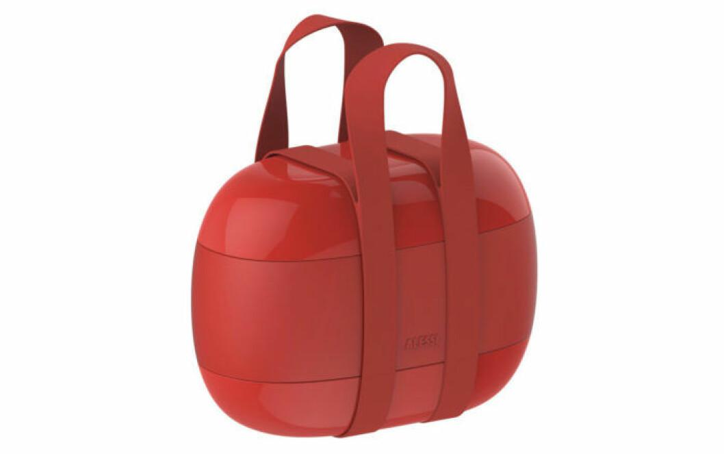 Röd matbox från Alessi