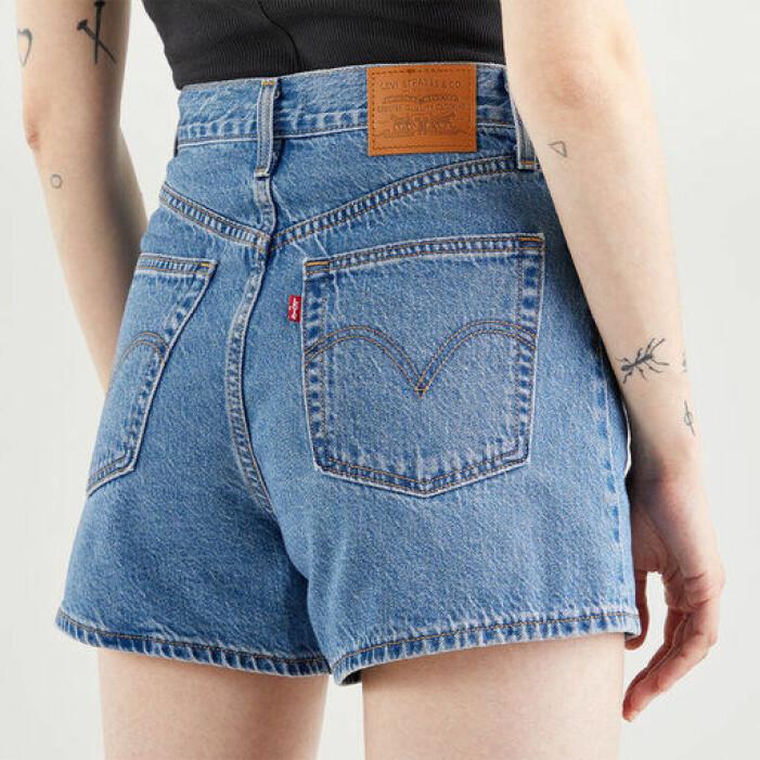 jeansshorts med hög midja