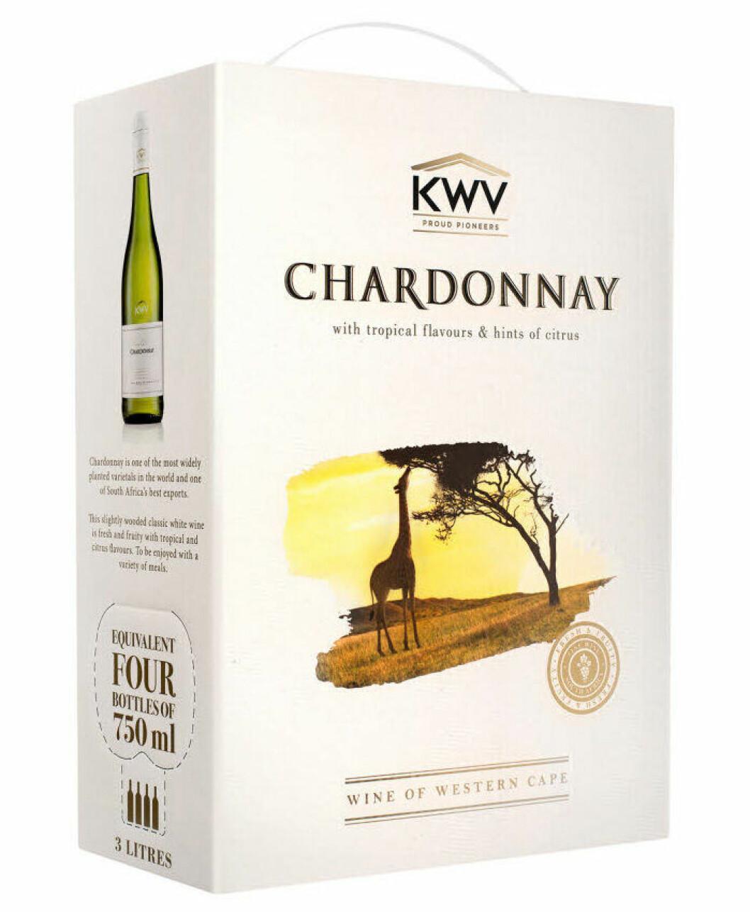 KWV Chardonnay (nr 7055), Sydafrika, Western Cape, 219 kr.