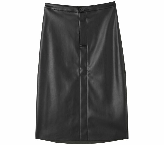 svart kjol läderimitation