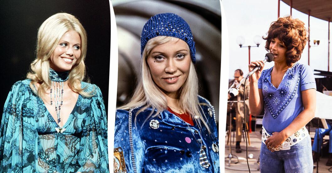 """Britt Ekland, Agnetha Fältskog, Barbro """"Lill-Babs"""" Svensson"""