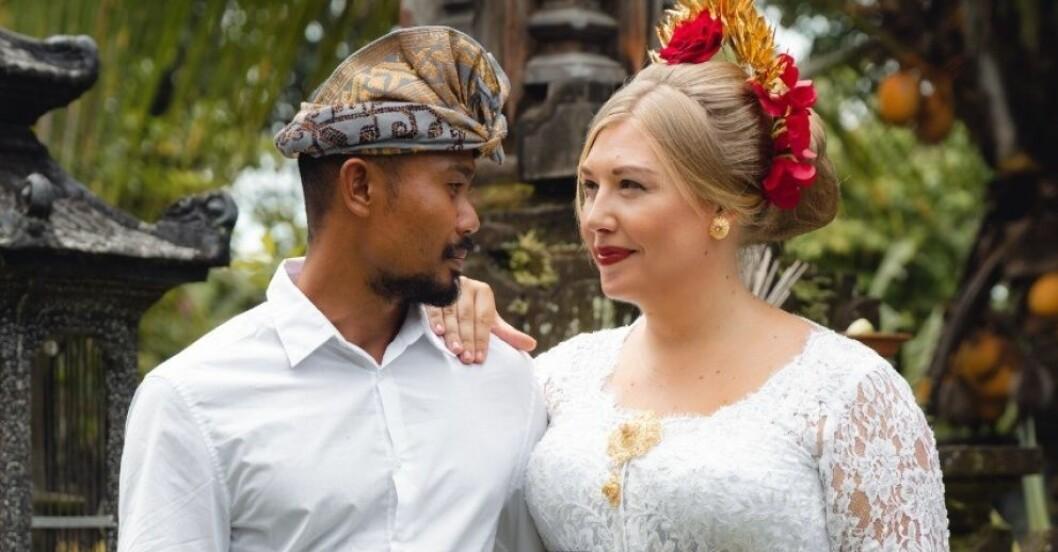 Linnea Larm-Svensson gifte sig på Bali och konverterade till hinduismen