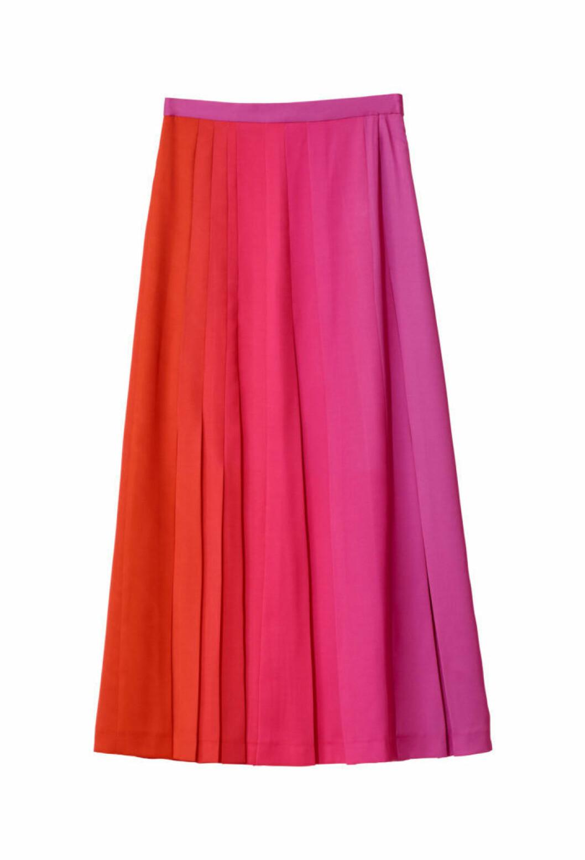 röd rosa kjol h&m studio aw18
