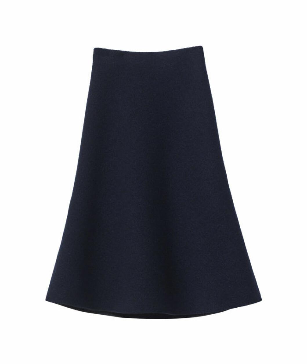mörkblå kjol h&m studio aw18