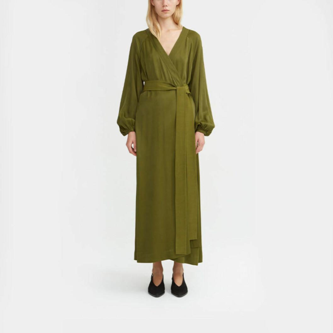 grön klänning åhlens
