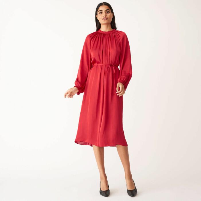 Röd klänning Wera