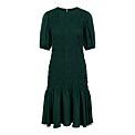 mörkgrön klänning med smock