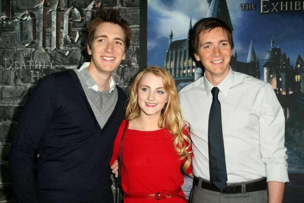 Skådespelare från Harry Potter på röda mattan