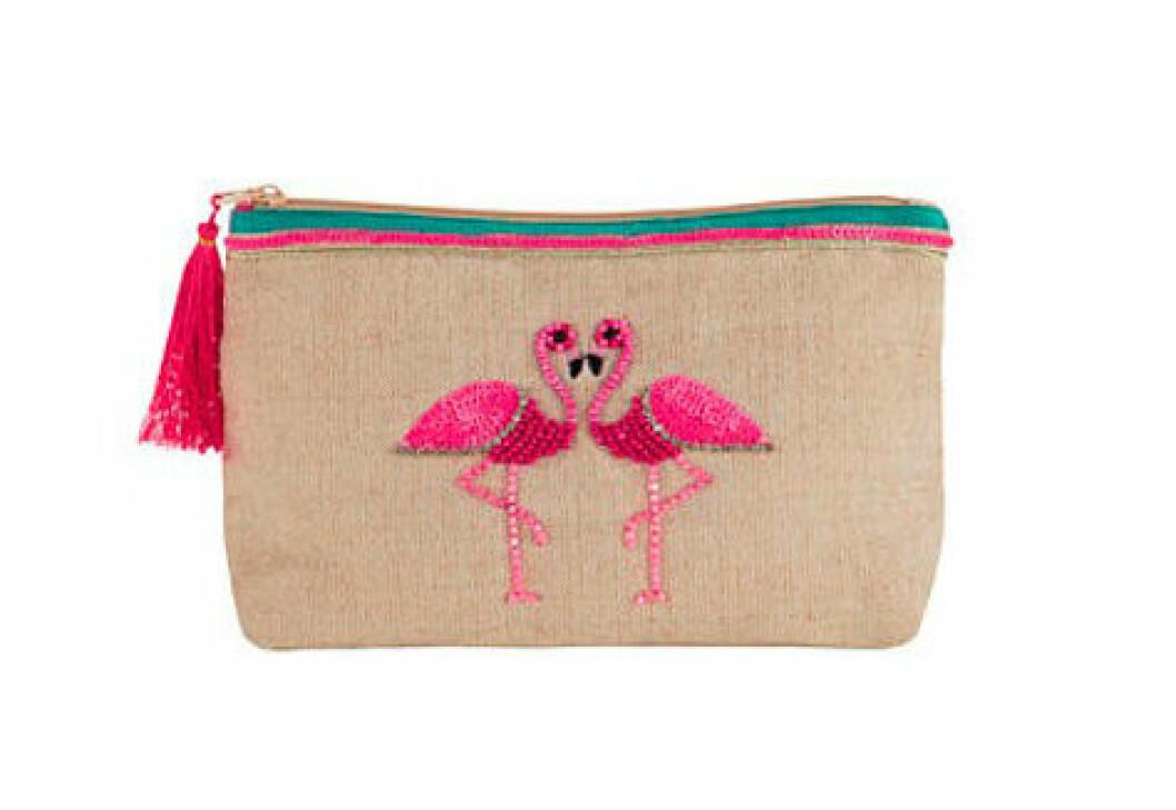 Gemma Flamingo Makeup Bag, ca 130 kr, Accessorize.