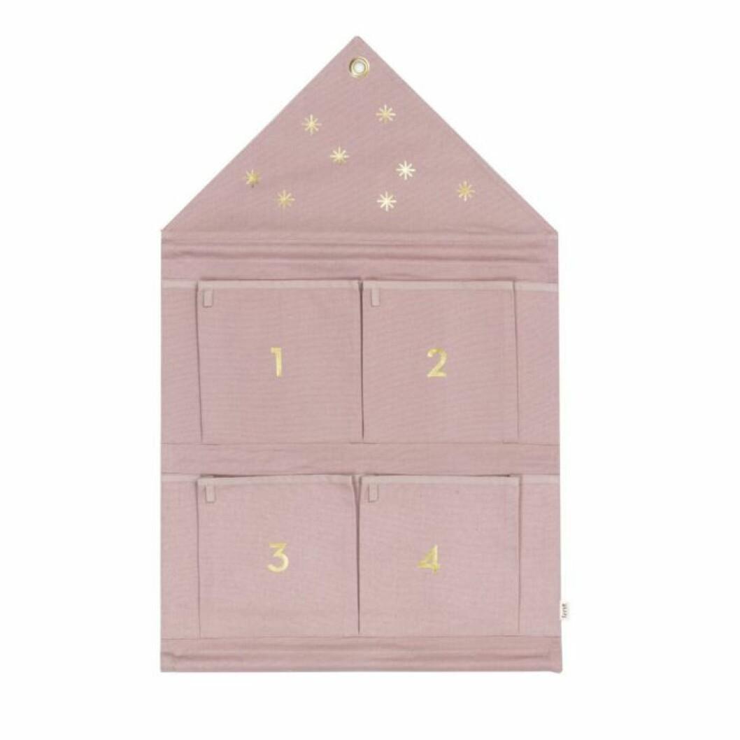 Adventskalender rosa hus