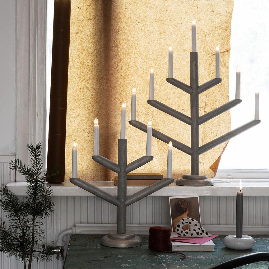 Femarmad adventsljusstake i trä från Granit