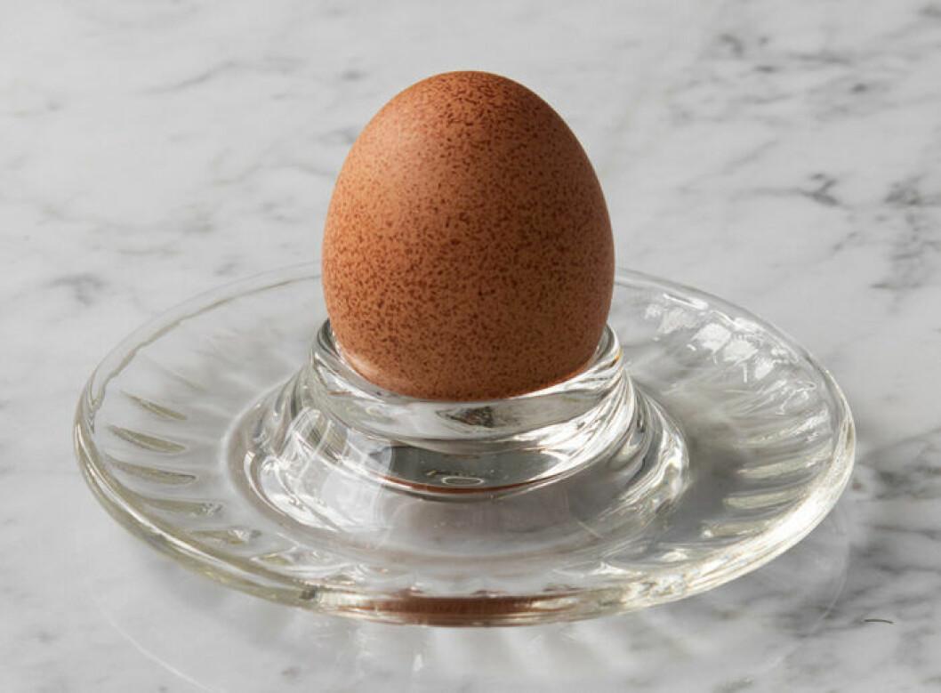 Äggkopp i glas från La Rochere till frukosten