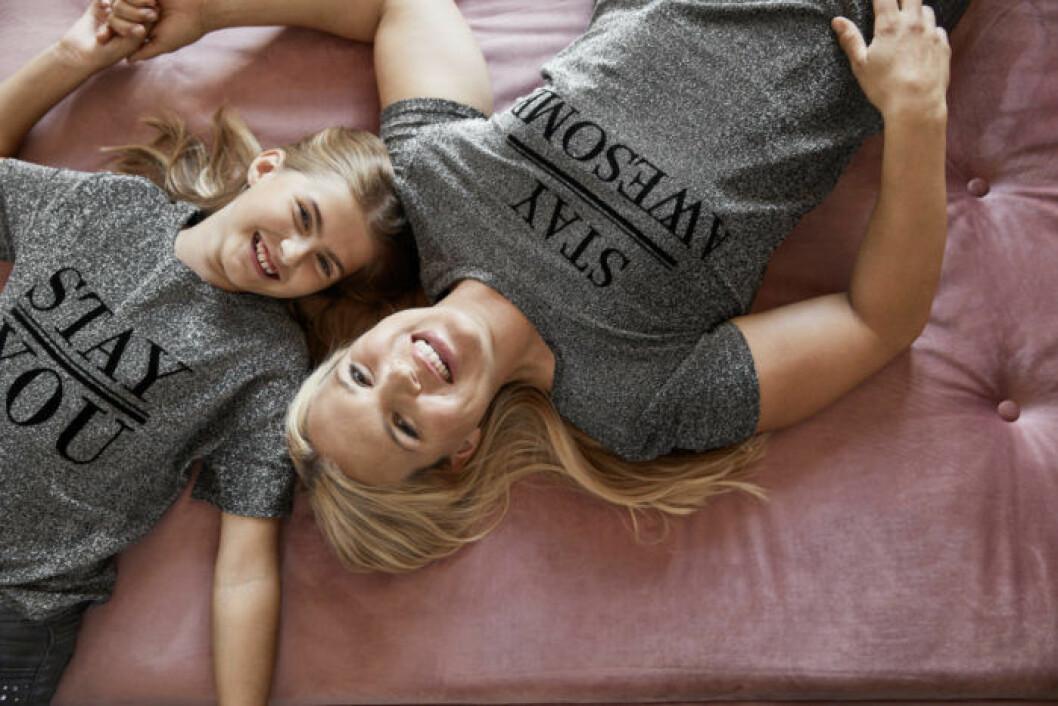 Anja Pärson och Filippa Rådin pyjamas för Ellos