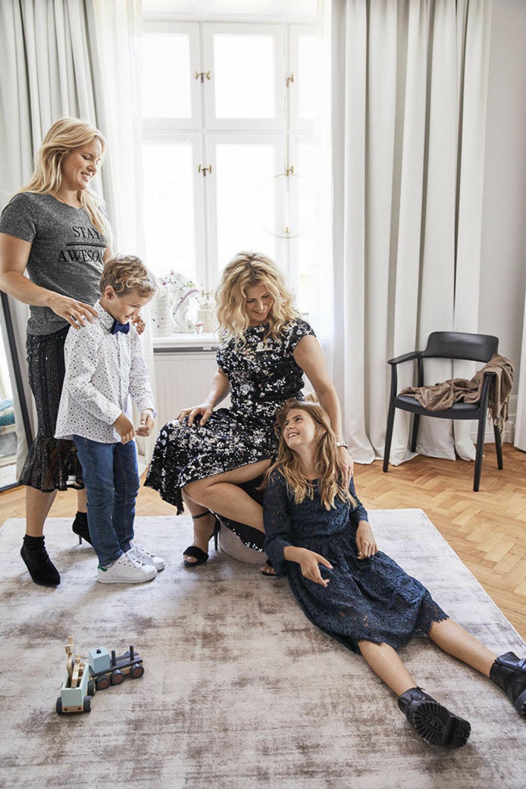 Anja Pärsson och Filippas kollektion för ellos innehåller bekväma och festliga plagg