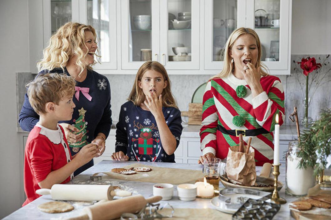 Jultröjor för hela familjen, Anja och Filippa för Ellos