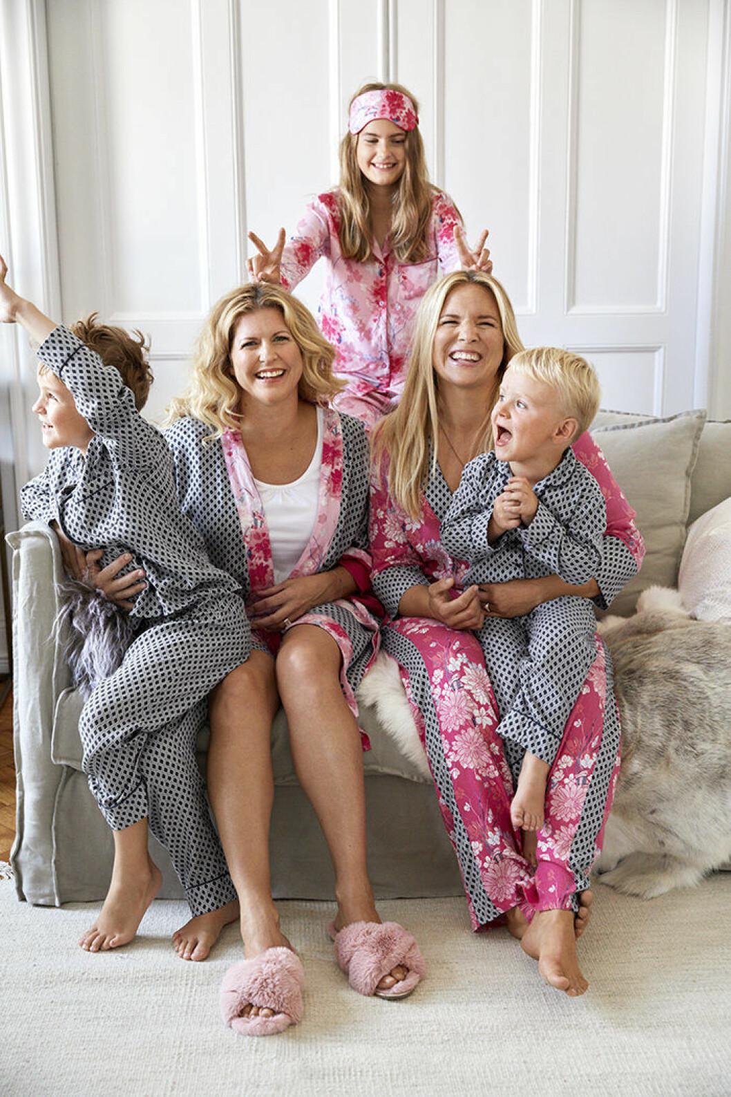 Pyjamasar för hela familjen, Anja och Filippa för Ellos