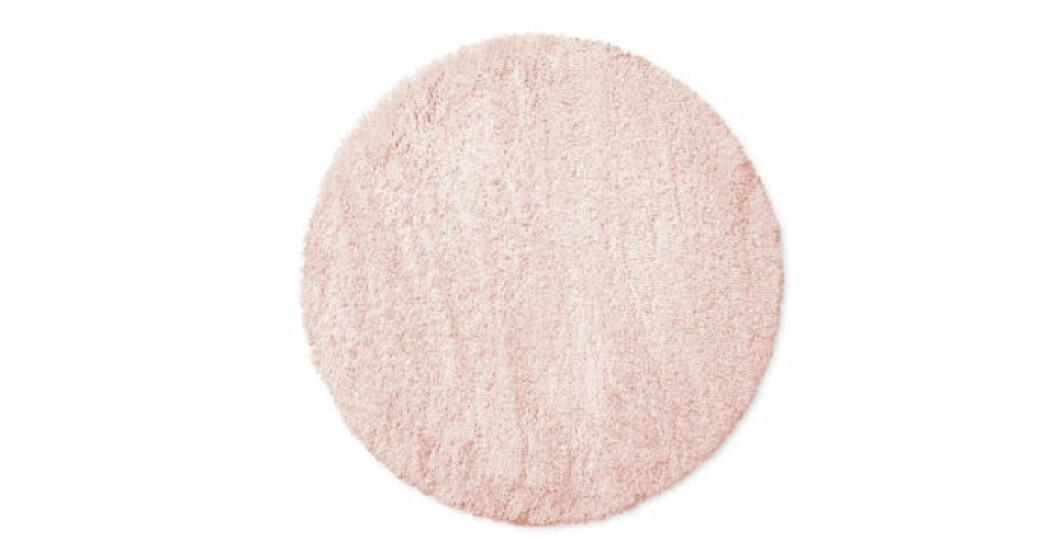 Fluffig rosa matta till läshörnan från Åhléns