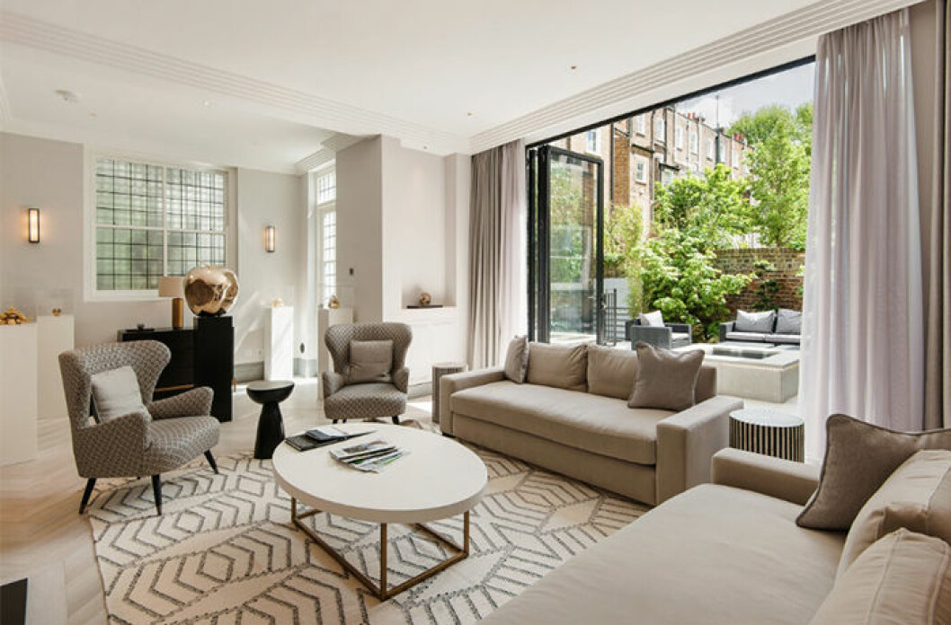 Lyxigt boende med fem rum nära Kensington Palace i London, som kan bokas via Airbnb Luxe
