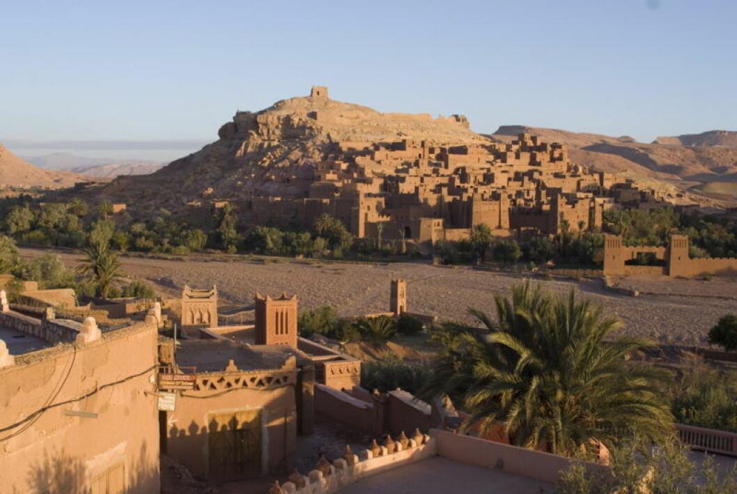 En bild på den marockanska staden Aït-Ben-Haddou, där Game of Thrones spelats in.