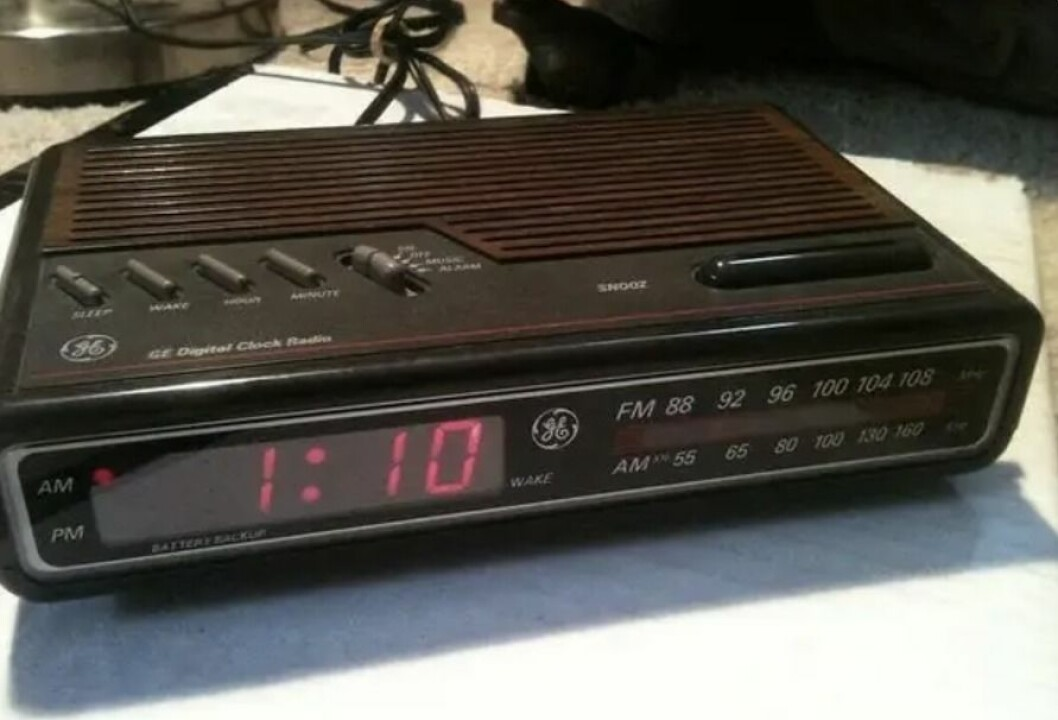 klockradio från förr