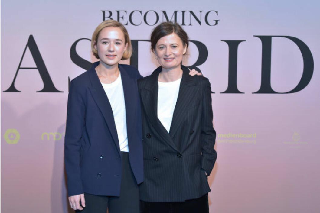 Alba August och Pernille Fischer Christensen i Berlin februari i 2018.