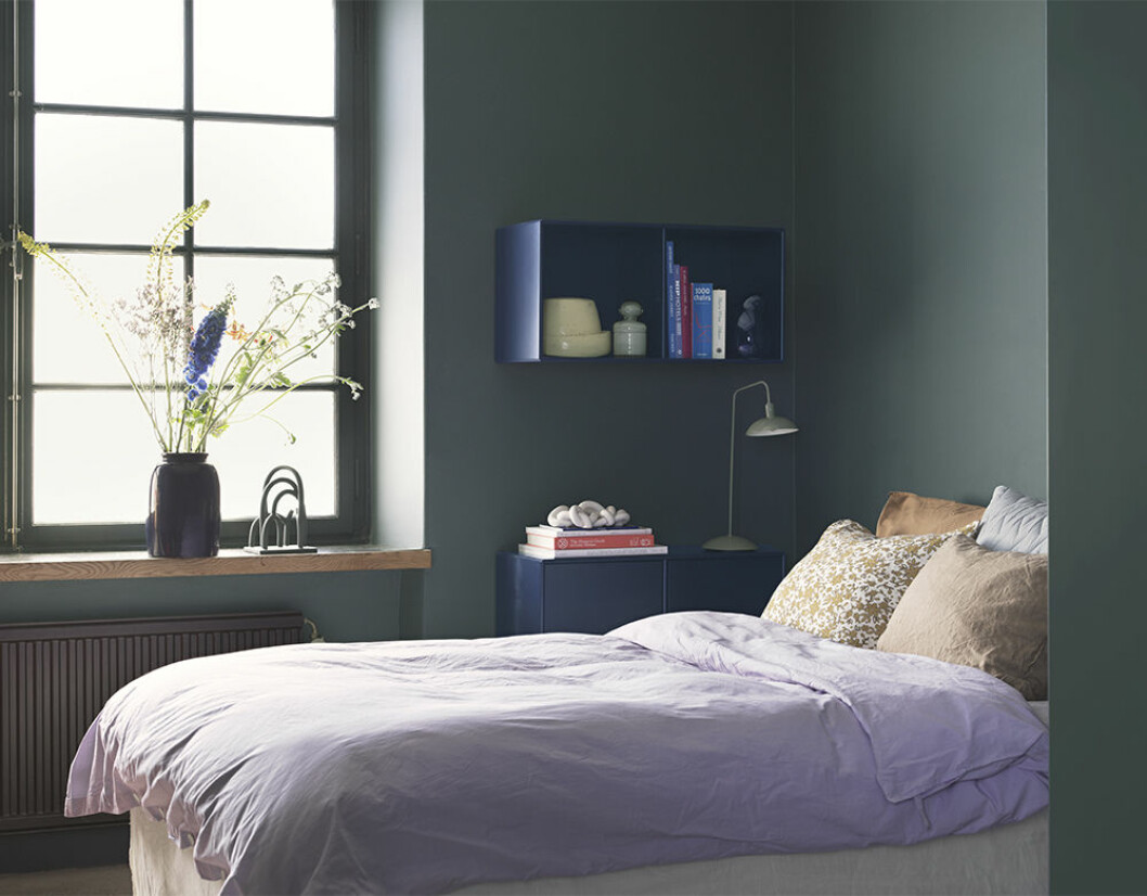 Lavendel gifter sig fint med både de blå och de jordnära tonerna.